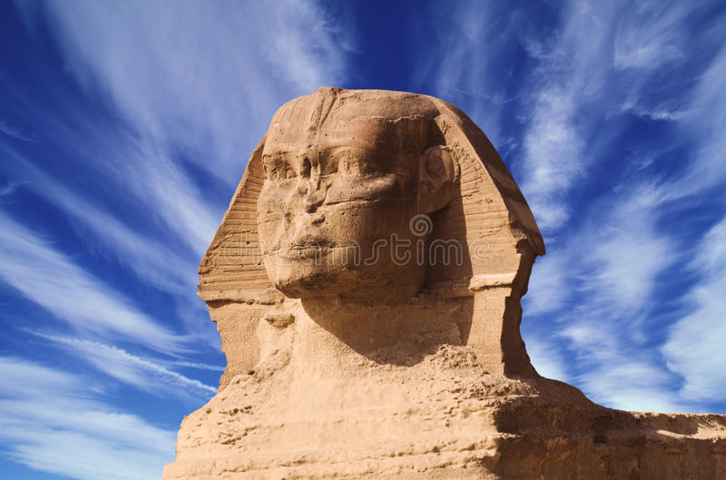 Sphinx of Gizeh, Egypt. Africa stock photo