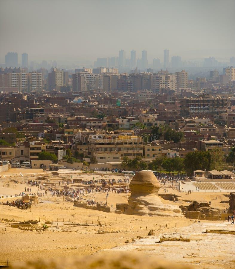 Free Sphinx Looks Onto Cairo City Stock Photos - 17163713