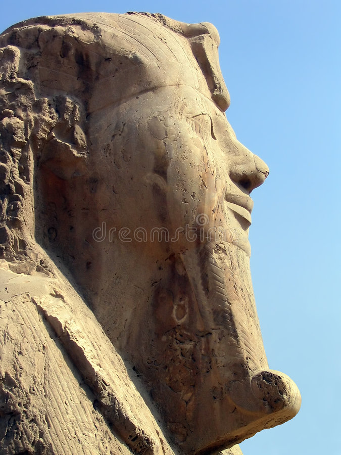 Sphinx of Memphis, Egypt. Profile of the alabaster Sphinx at the ancient capital of Memphis, Egypt royalty free stock image