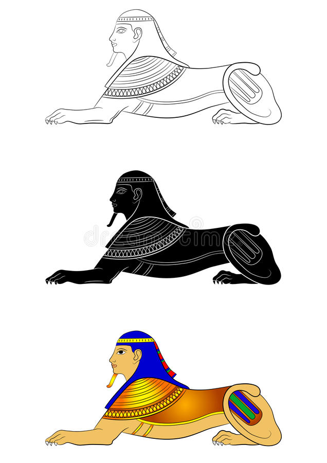 Sphinx - mythical creature of ancient Egypt. Illustration of the Sphinx - mythical creature of ancient Egypt vector illustration