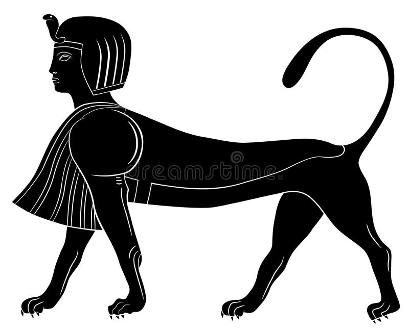 Sphinx - mythical creature of ancient Egypt. Image of the Sphinx - mythical creature of ancient Egypt vector illustration