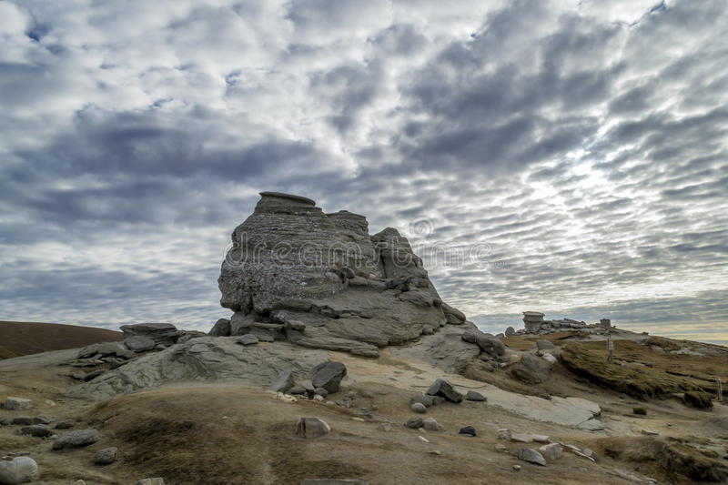 The Sphinx natural rock formation Romania stock image