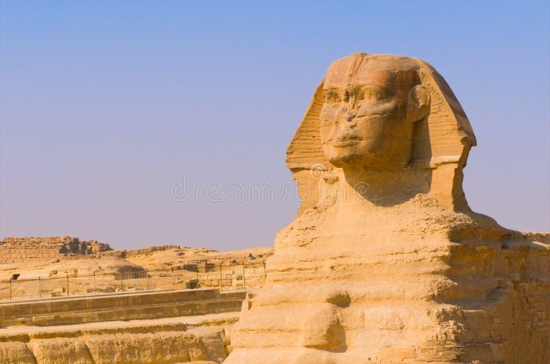 Sphinx och pyramider på Giza, Cairo fotografering för bildbyråer