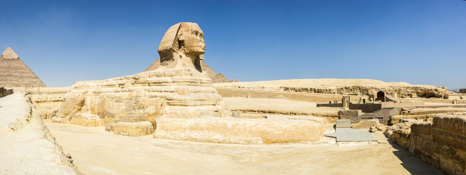 Sphinx panorama stock image