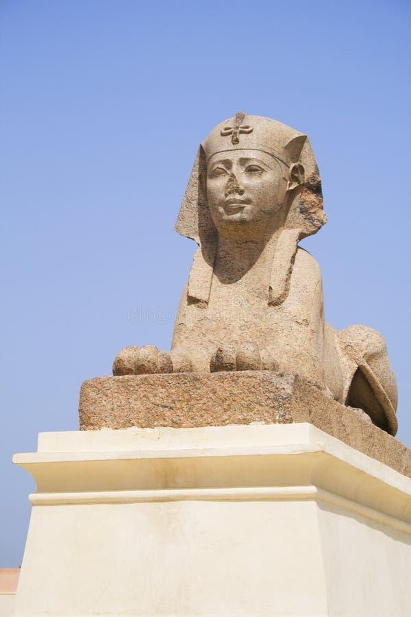 Sphinx Ptolemaic alla colonna del Pompey, Egitto fotografia stock libera da diritti