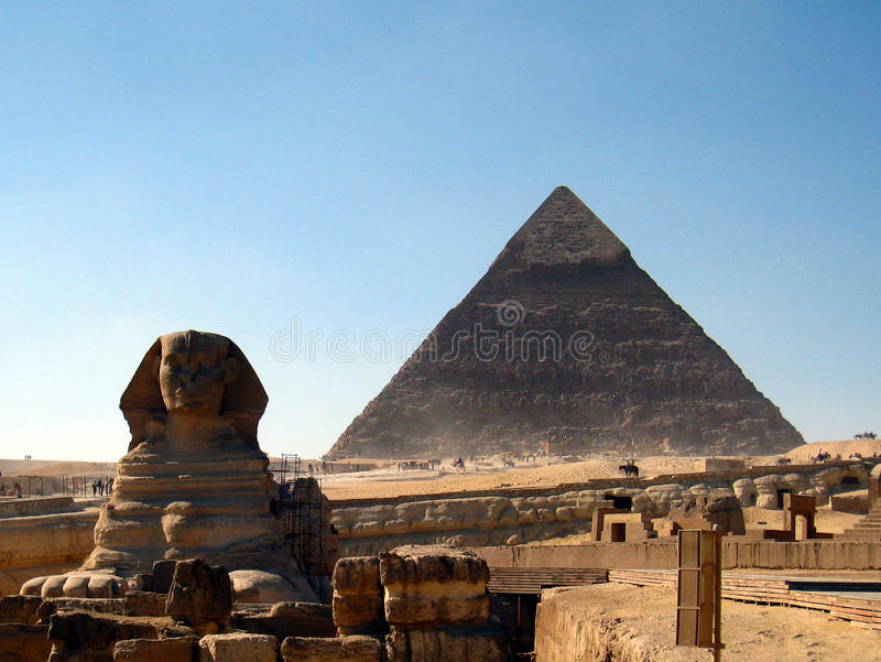 Download Sphinx and pyramid stock photo. Image of historic, kingdom - 12069674