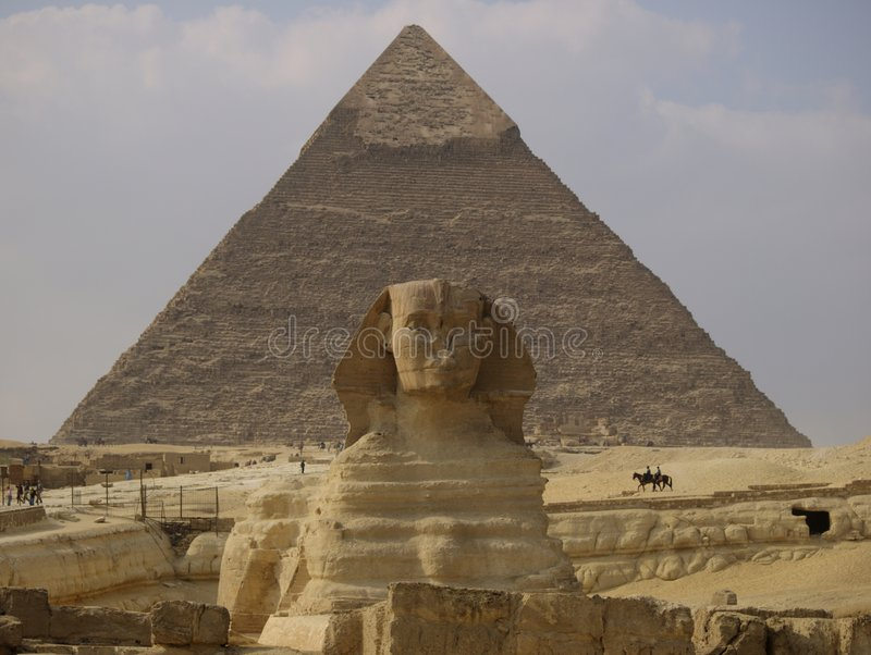 Download Sphinx and Pyramid stock photo. Image of egyptology, architecture - 4356802