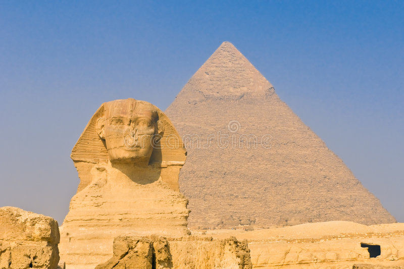 Download Sphinx And Pyramids At Giza, Cairo Stock Image - Image: 6709215
