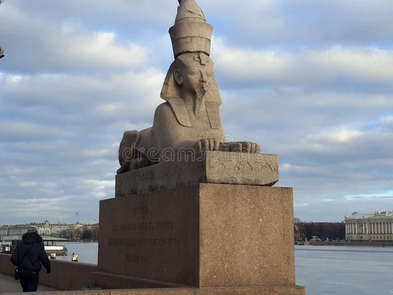 Sphinx. St.Peterburg stock photography