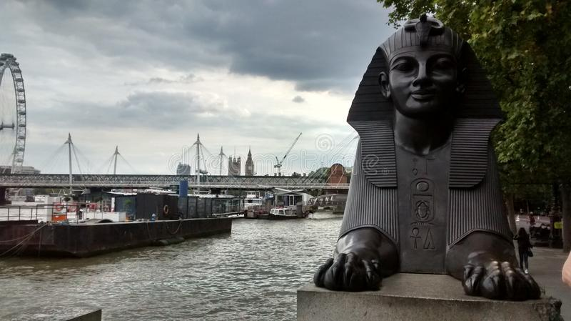 Sphinx on Victoria Embankment, London royalty free stock image