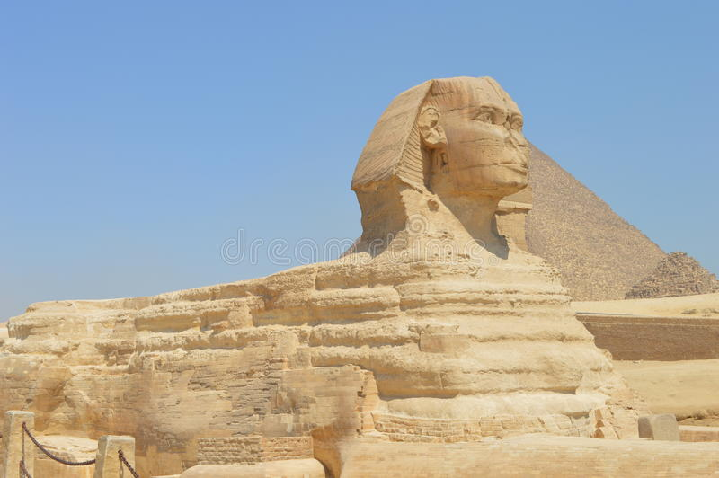 Sphinx von Giza stockbilder