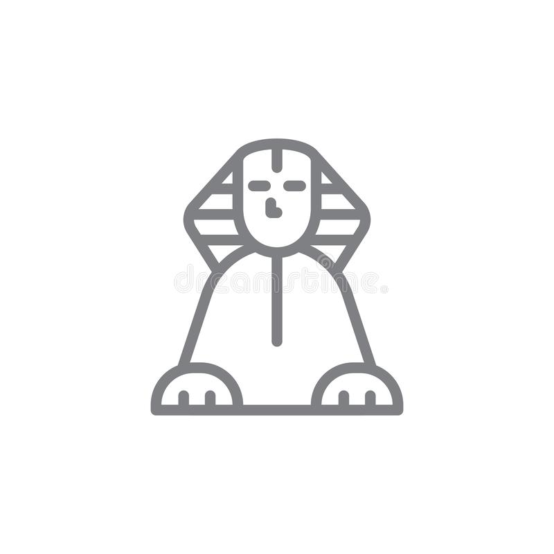Sphinxikone Element von myphology Ikone D?nne Linie Ikone f?r Websitedesign und Entwicklung, APP-Entwicklung Erstklassige Ikone lizenzfreie abbildung