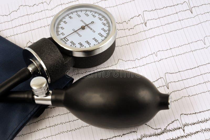 Sphygmomanometer που τοποθετείται σε μια καρδιολογική εξέταση στοκ φωτογραφίες με δικαίωμα ελεύθερης χρήσης