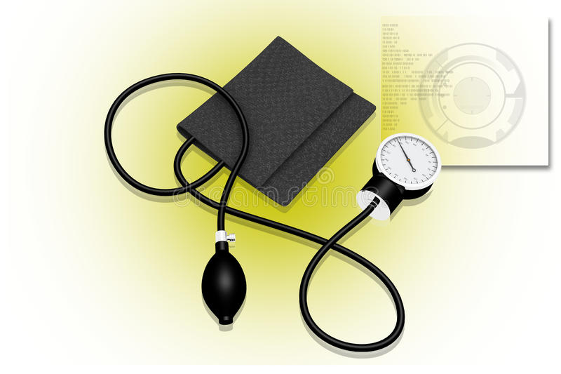 Download Sphygmomanometer stock illustration. Image of background - 14860503