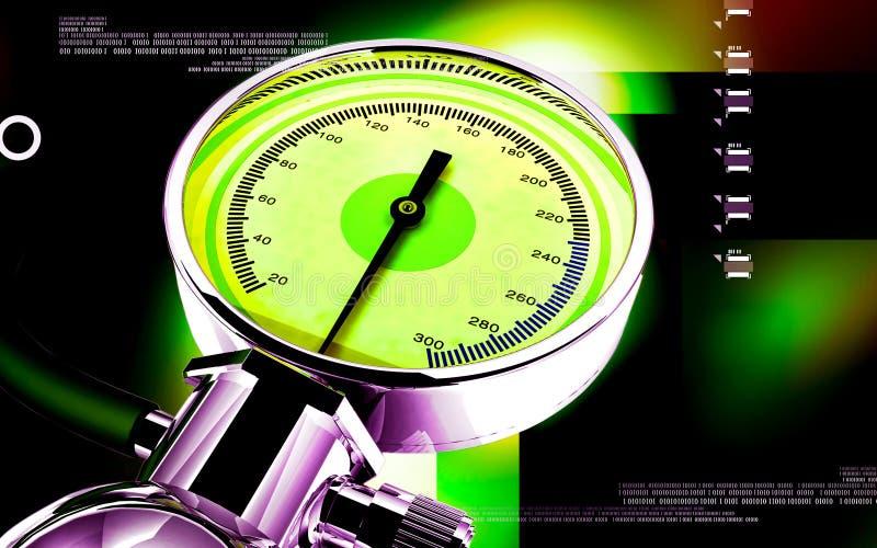 Sphygmomanometer illustration stock