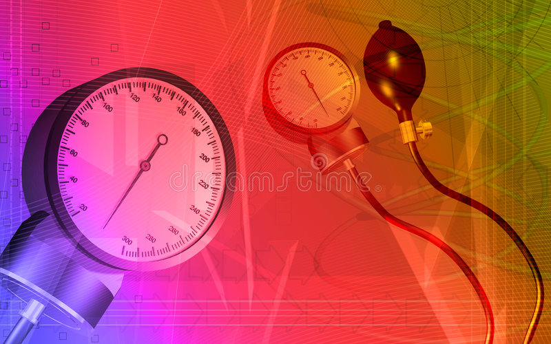 Sphygmomanometer stock illustration