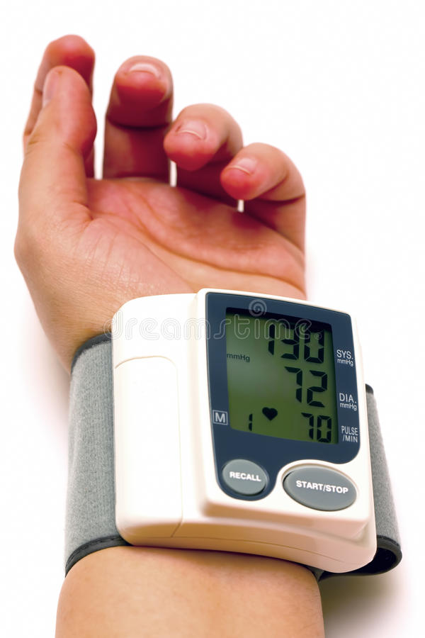 Sphygmomanometer and arm 04 royalty free stock image