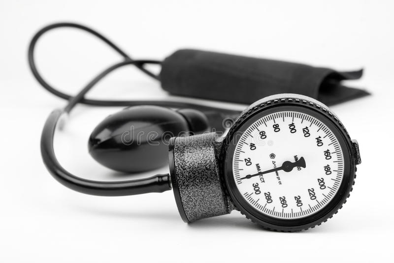 Sphygmomanometer For Blood Pressure Isolated Stock Photos