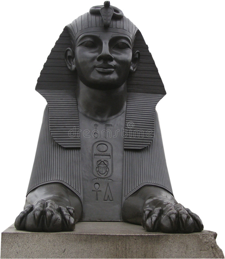 Sphynx egiziano fotografie stock