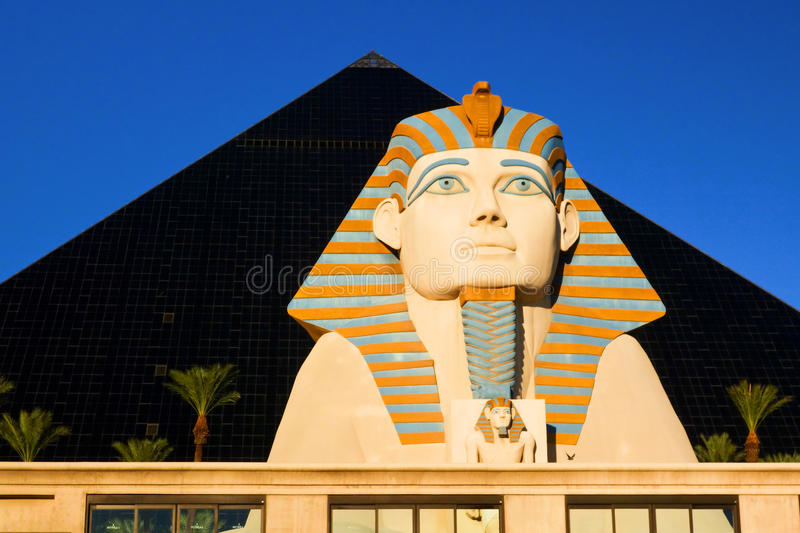 Sphynx guarding Luxor casino-hotel, Las Vegas royalty free stock photography