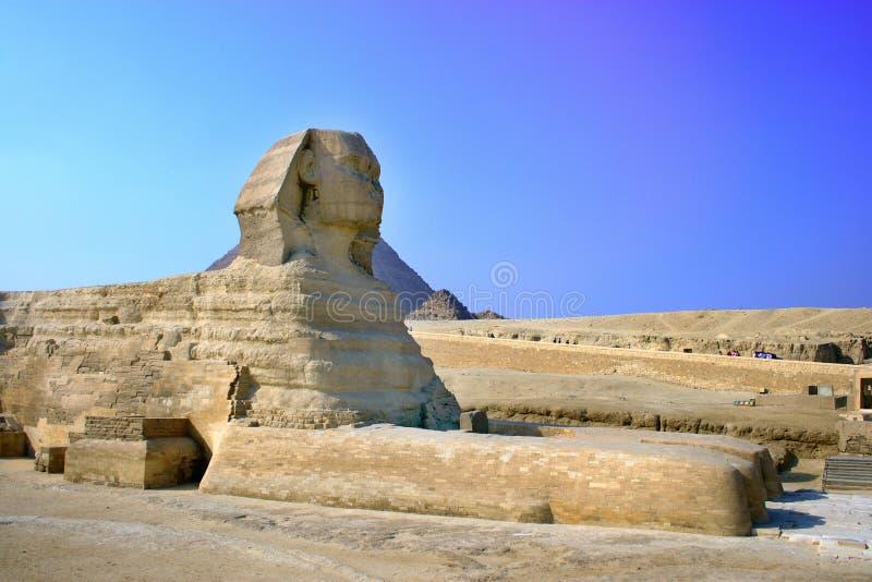 Sphynx, Pyramiden in Ägypten stockbilder