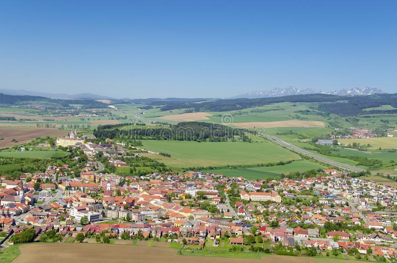 Spišské Podhradie. Is a town in Spiš in the Prešov Region of Slovakia, situated at the foot of the hill of Spiš Castle royalty free stock photos
