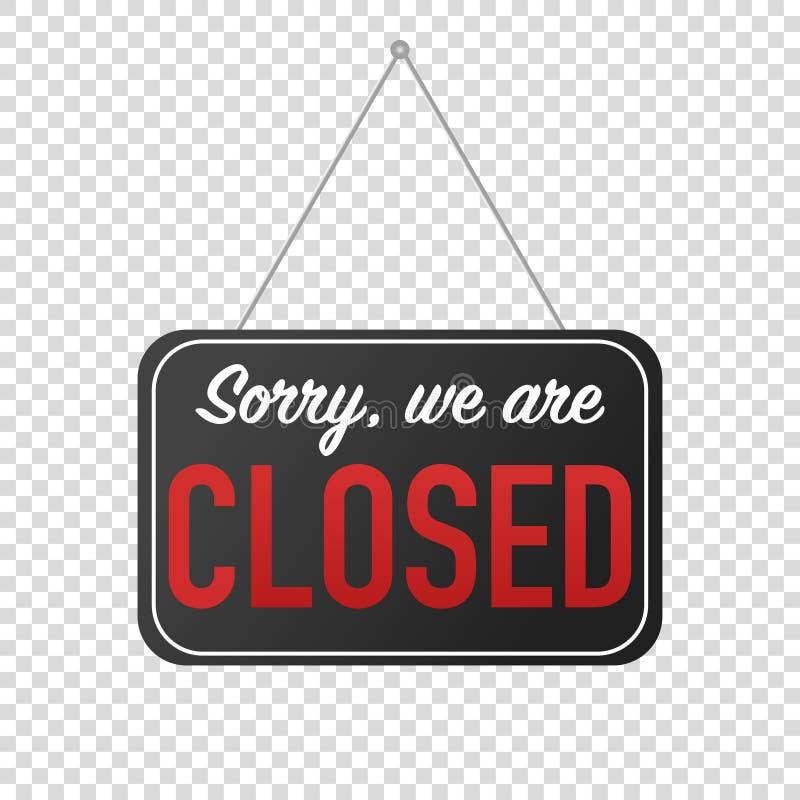 spiacente siamo invio chiuso della porta del segno royalty illustrazione gratis