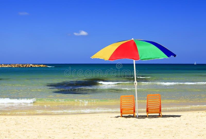 Spiagge dell'aspettare mediterraneo voi! immagine stock