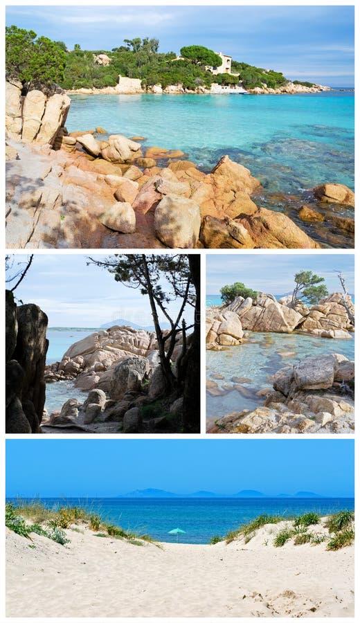 Spiagge della Sardegna in collage immagini stock