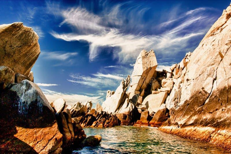 Spiagge di Desertic immagine stock