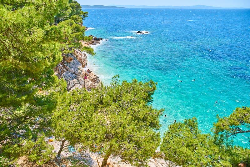 Spiagge di Hvar, Croazia fotografia stock