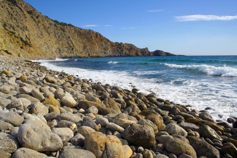 Spiagge di Ibiza Serie fotografie stock
