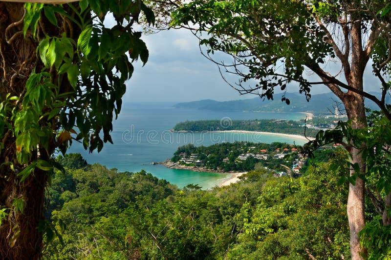 Spiagge tropicali di paesaggio della Tailandia fotografia stock libera da diritti