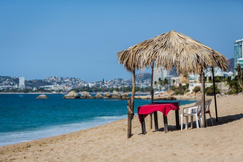 Spiagge vuote a Acapulco, Messico 2015 fotografia stock