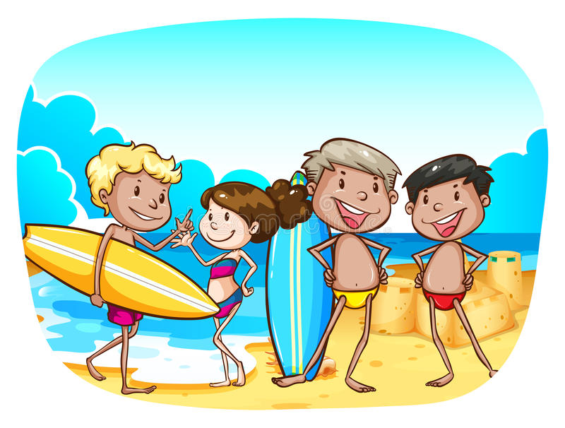 Download Spiaggia illustrazione vettoriale. Illustrazione di immagine - 55365357