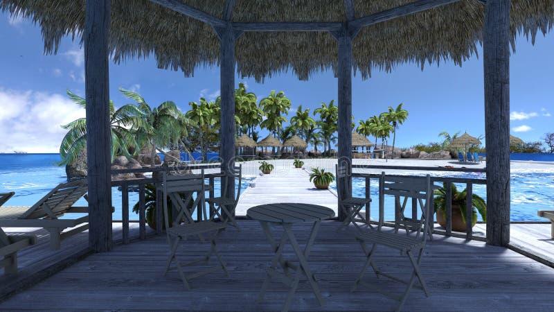 Spiaggia royalty illustrazione gratis