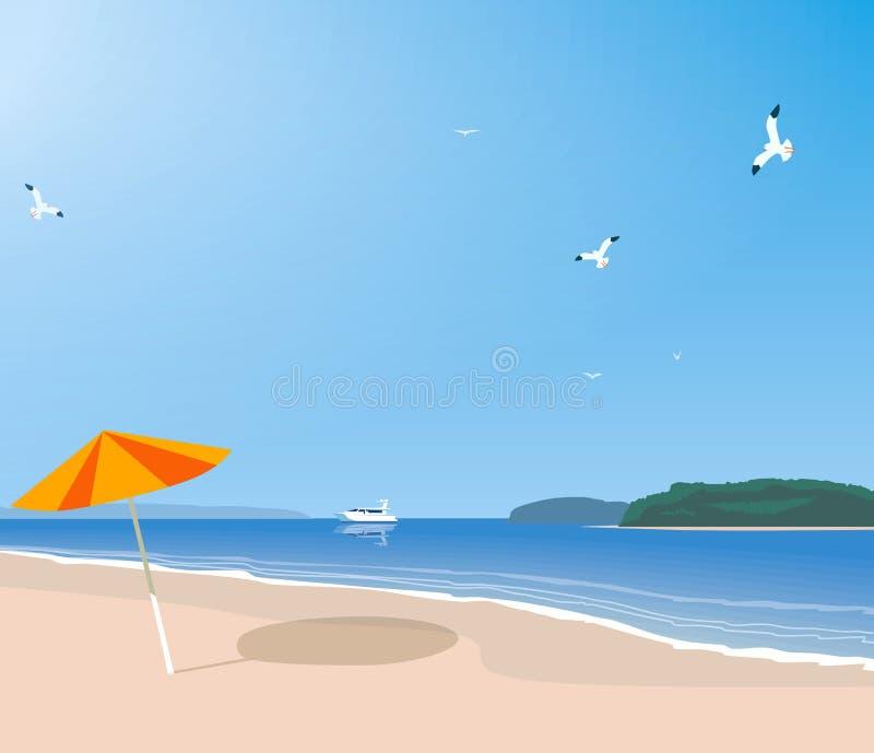 Spiaggia abbandonata sulla spiaggia royalty illustrazione gratis