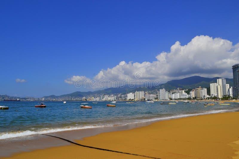 Spiaggia a Acapulco immagini stock libere da diritti
