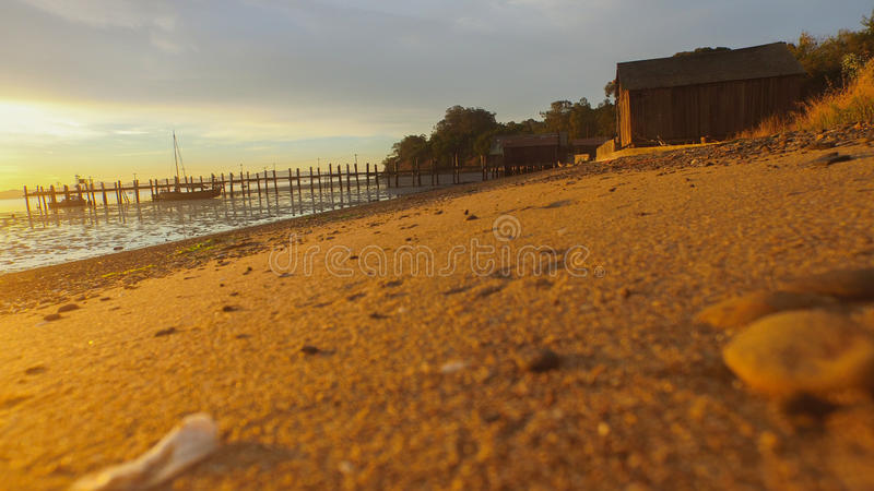 Spiaggia ad alba San Francisco Bay immagini stock
