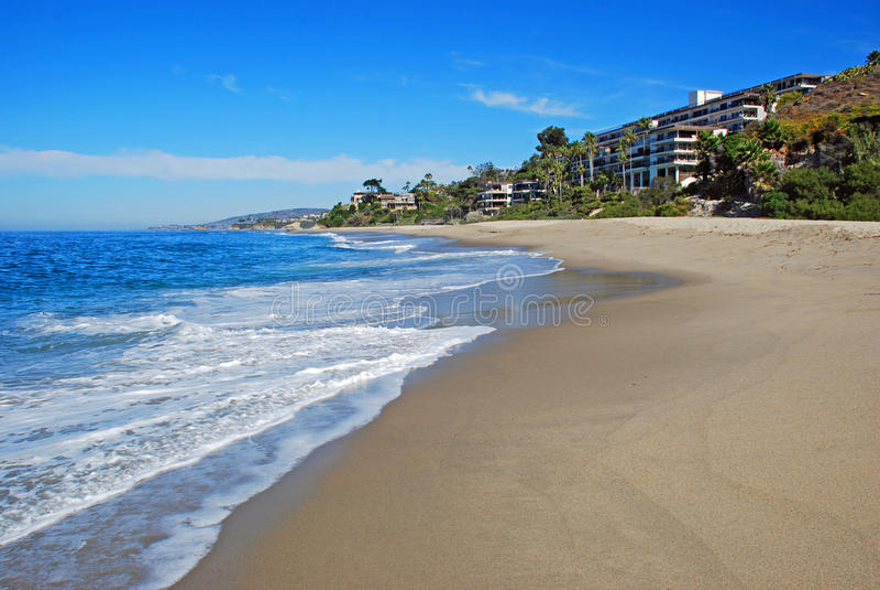 Spiaggia ad ovest, Laguna Beach del sud, California fotografie stock