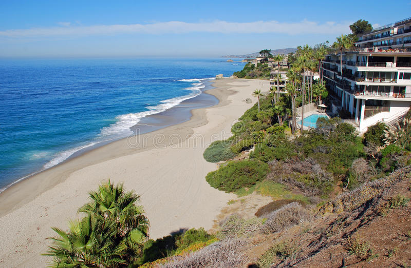Spiaggia ad ovest, Laguna Beach del sud, California fotografia stock