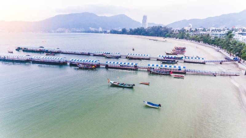Spiaggia aerea di Patong immagine stock libera da diritti