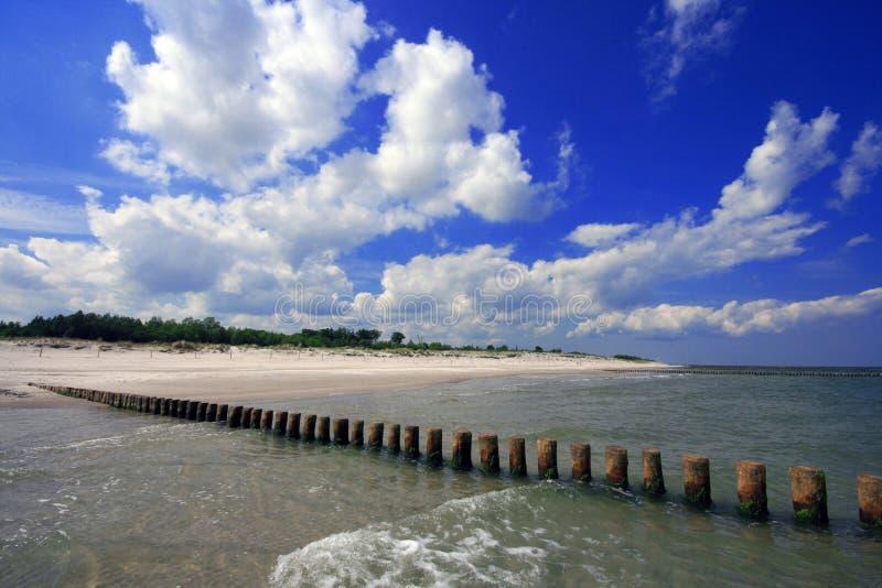 Spiaggia al Mar Baltico immagini stock