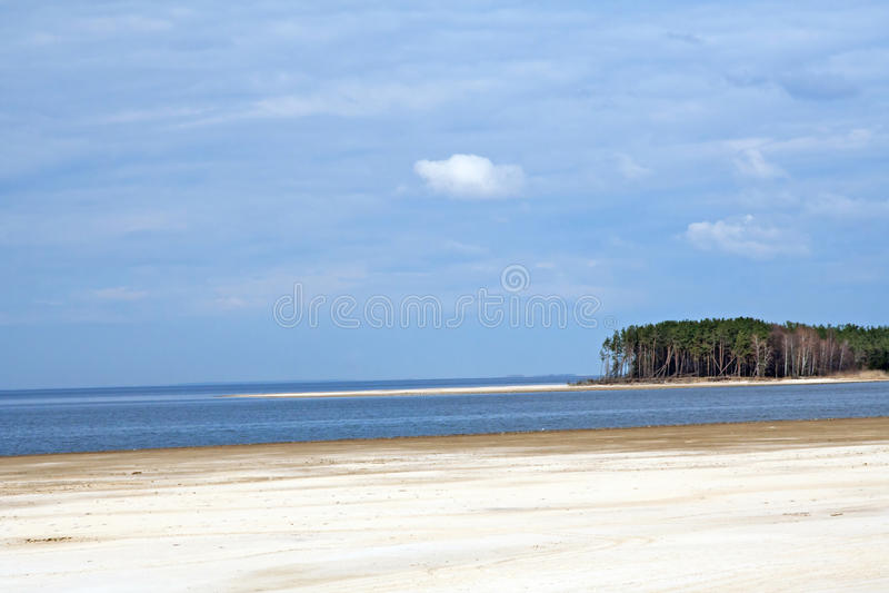 Spiaggia al mare di Kiev immagini stock libere da diritti