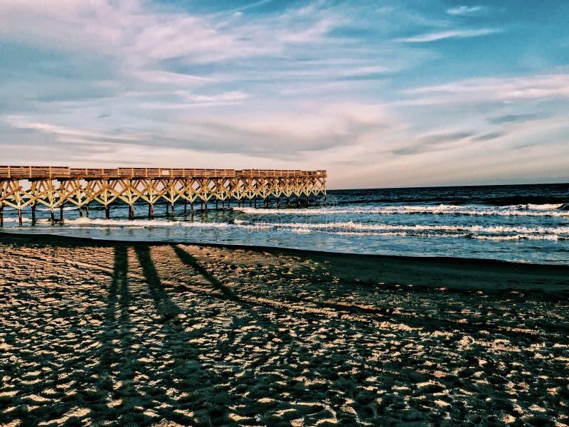 Spiaggia all'aperto North Carolina immagini stock