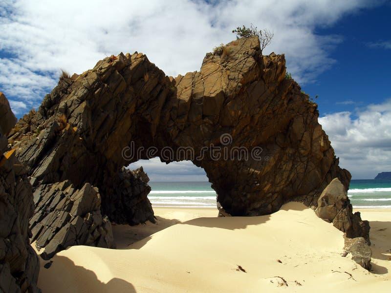 Spiaggia all'isola bruny fotografia stock