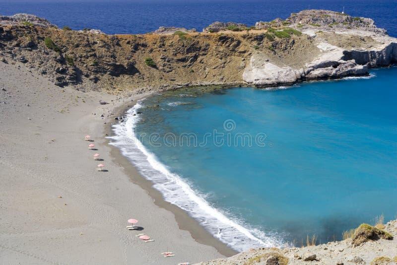 Spiaggia all'isola del crete, Grecia immagine stock libera da diritti