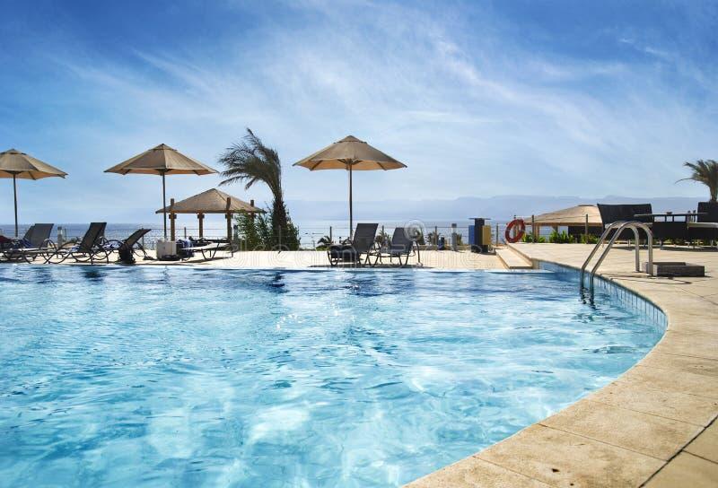 Spiaggia a Aqaba, Giordano immagine stock