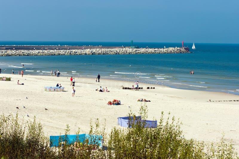 Spiaggia baltica in Polonia immagine stock libera da diritti