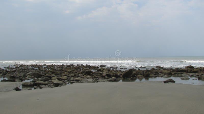 Spiaggia Bangladesh del mare di Cox's Bazar fotografie stock libere da diritti